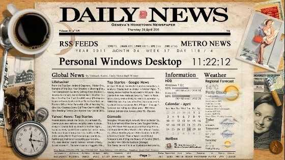Best Rainmeter skins for Windows in 2019 - Newspaper Desktop