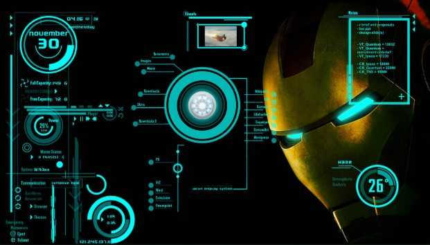 Best Top Rainmeter Skins - Iron Man Jarvis V2