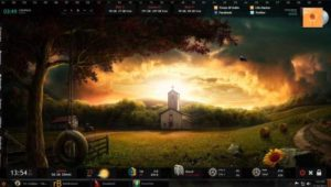 Top Rainmeter themes for Windows PC - Darkness Fall