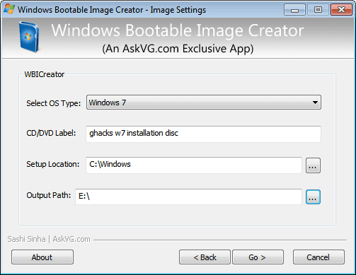 Windows Bootable Image Maker